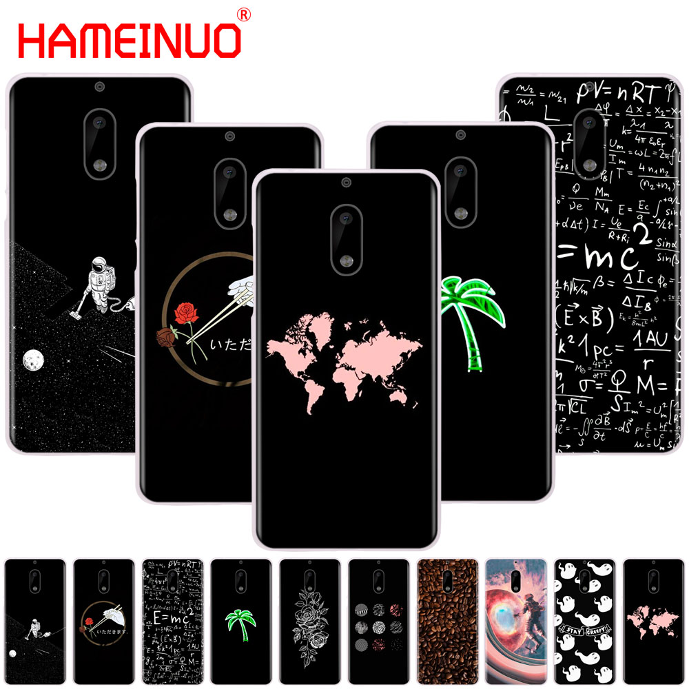 Hameinuo Newest Space Moon Astronaut Pattern Cover Phone Case For Nokia 9 8 7 6 5 3 Lumia 630 640 640xl 2018 Half-wrapped Case
