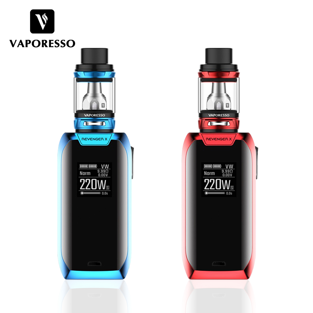 Vaporesso Revenger X Kit 220W Electronic Cigarette Kit 2ml 5ml NRG Tank Vape Kit Support Coil GT4 GT8 Atomizer with Touch Button vaporesso vape cigarette revenger x kit electronic cigarette with nrg tank and 220w touch bottom mod power by 18650 battery cell