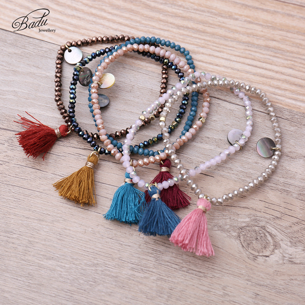 Badu Women Bracelets 2017 Fashion Tassel Friendship Girls