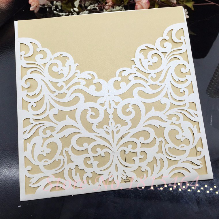 50pcs Laser Cut Weeding Cards Paper Invitation Cards Party Birthday Invitation Cards Greeting Cards Supplies