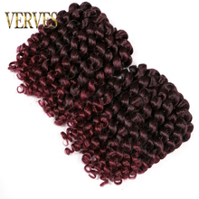 VERVES Crochet braids hair 5 pack 75g/pack 8inch synthetic o