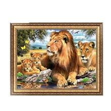 Lions Diamond Embroidery 5d Diamond DIY Painting Cross Stitch Craft 40*30cm #K400Y#