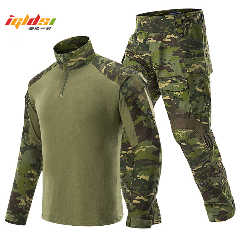 Military Tactical Sets Man Uniforms BDU Army Airsoft Paintball Combat Suit Sets Camouflage Long Sleeve T-shirts Cargo Work Pants