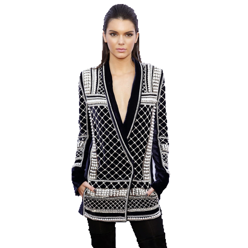 high quality new barocco fashion 2016 runway jacket