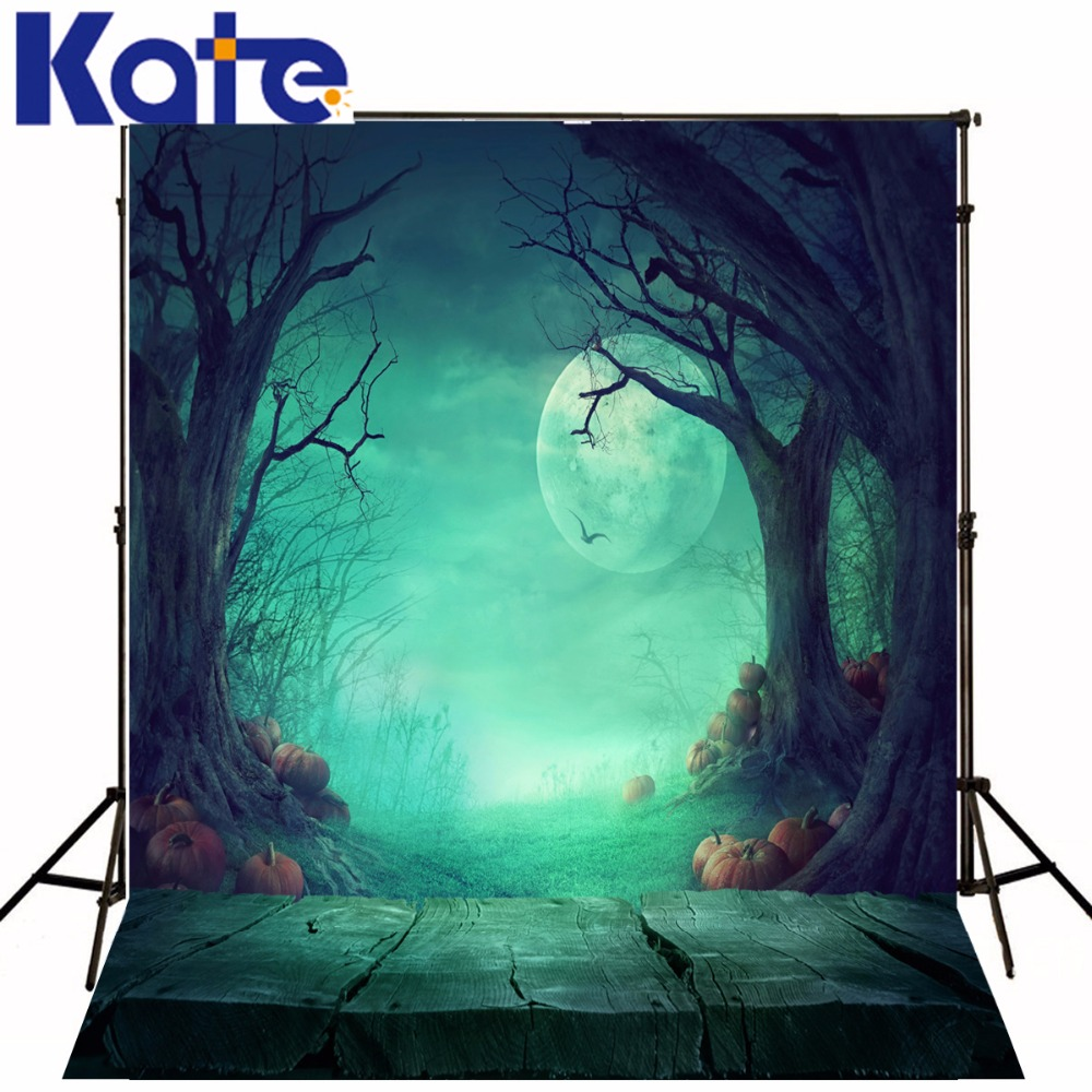 KATE Photography Backdrops Halloween Backdrop Fairy Tale Forest Background Wood Floor Backdrop Children Photo Background send rolled enchanted forest backdrop secret garden lantern fairy tale printed fabric photography background s0038
