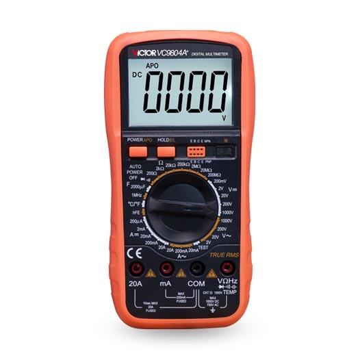 Victor genuíno VC9804A + digital universal digital universal mesa de medição de temperatura/frequência/linha de fogo julgamento