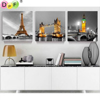 Tower and bridge diy diamond embroidery for living room cross stitch diamond mosaic Europe scenery painting wall painting