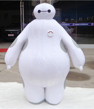 100% real images suit Big Hero 6 Baymax Mascot Costume Cartoon Adult Size Big Hero mascot EMS Free Shipping