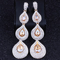 FARLENA JEWELRY Vintage Water Drop Earrings With Crystal Rhinestones Long Wedding Earrings