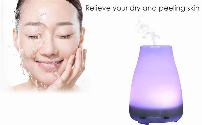 ФОТО HTSS01-5,Ultrasonic Humidifier LED Light 7 Color Change,Dry Protect,Ultrasonic Essential,Oil Aroma Diffuser,Air Humidifier Maker