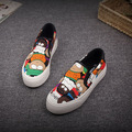 Free shipping spring new Global Graffiti board foot heavy-bottomed shoes spell color canvas shoes Loafers