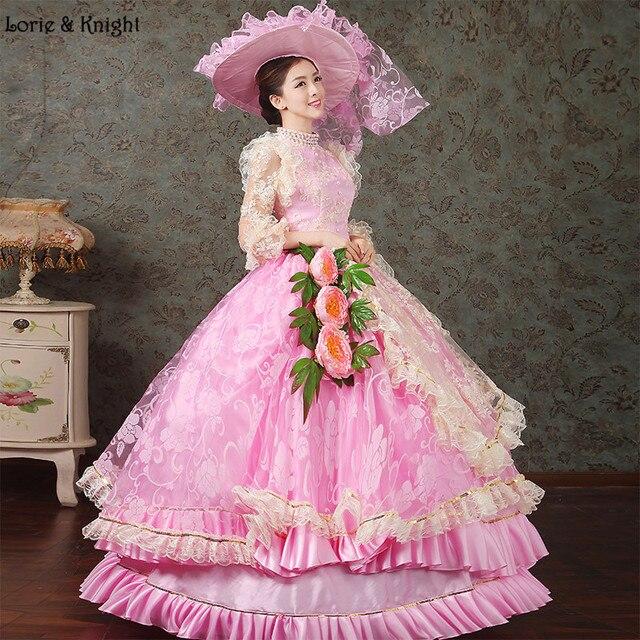 b2be60a7c52 Принцесса Сисси вдохновил платье Королевский Бальные платья для взрослых  принцессы маскарадный костюм розовый