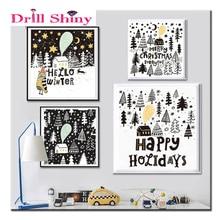 DIY Diamond Embroidery,Cartoon Animal Owl Tree snow ,5D Diamond Painting,Cross Stitch,3D,Diamond Mosaic,Decoration,wall stickers