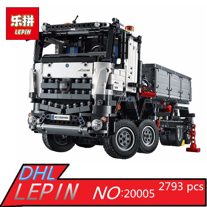 LEPIN Technic 20005 Arocs Truck Building Bricks Blocks Educational Plastic Toys Gift 2793pcs technic remote controlled arocs truck 20005 building kit 3d model blocks minifigures toys bricks compatible with lego
