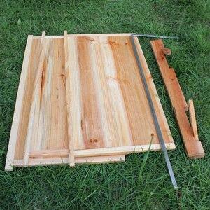 Image 5 - אוטומטי עץ כוורת בית עץ דבורים תיבת ציוד גידול דבורים כוורן כלי לכוורת דבורים אספקת 66*43*26cm באיכות גבוהה