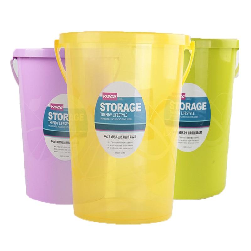 plastic bucket household portable mop bucket student dormitory laundry washing bucket car water storage barrels trq133 - Water Storage Barrels
