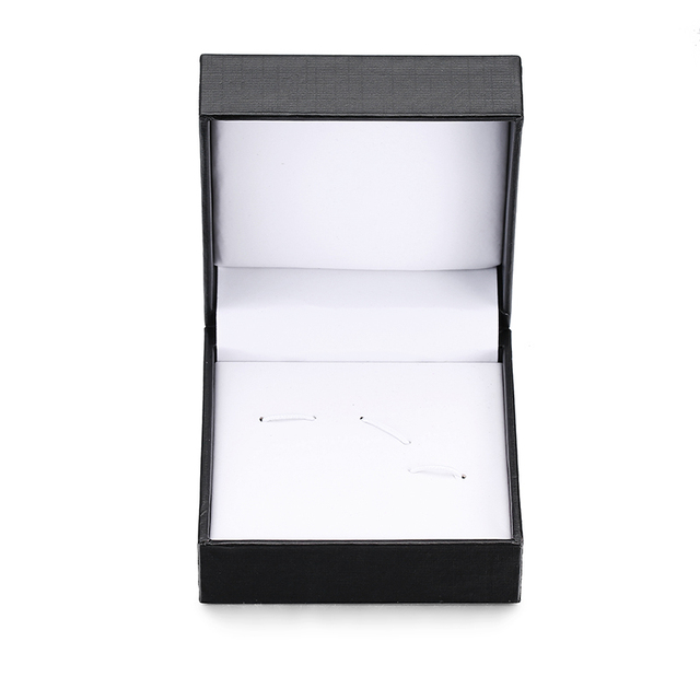 New Black white fashion men's shirts Cufflinks box wedding suit tie clip box business high-grade tie clip Cufflinks box set 1
