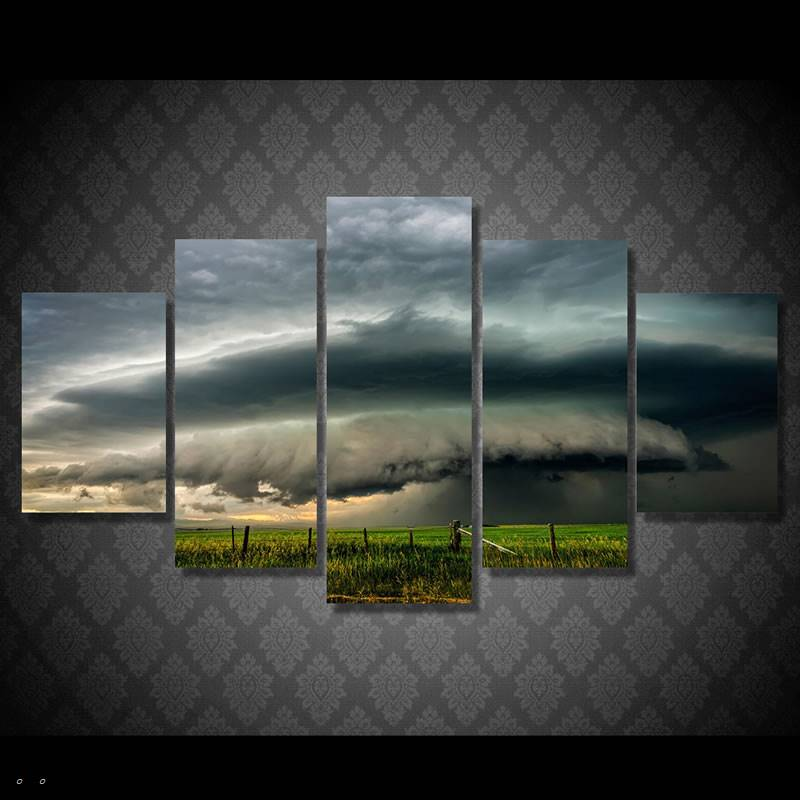 Hd Printed Field Dark Clouds Painting Canvas Print Room Decor Print Poster Picture Canvas Free Shipping/90761