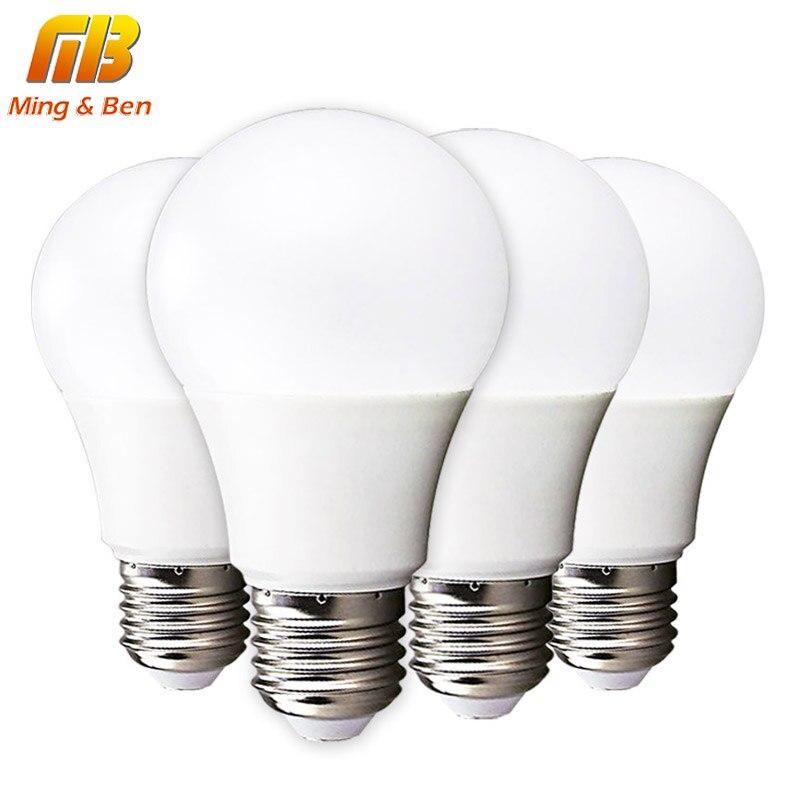 [MingBen] 4 pçs/lote CONDUZIU a Lâmpada do Bulbo E14 E27 3 W 5 W 7 W 9 W 12 W 15 W 220 V LEVOU Lampada Ampola Bombilla LED de Alto Brilho de Luz SMD2835
