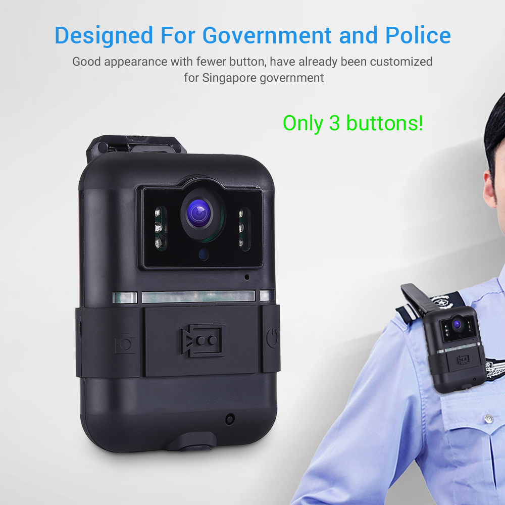 Boblov Wifi Body Worn Camera 32GB WN11 1296P Novatek 96658 Ultra HD 1296P Police Camera 360 Rotation Clip Night Vision Camara