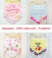3 pc/lot 100% del algodón del bebé niños y niñas baberos bandanas toalla bebé bufanda niños chalina toalla infantil