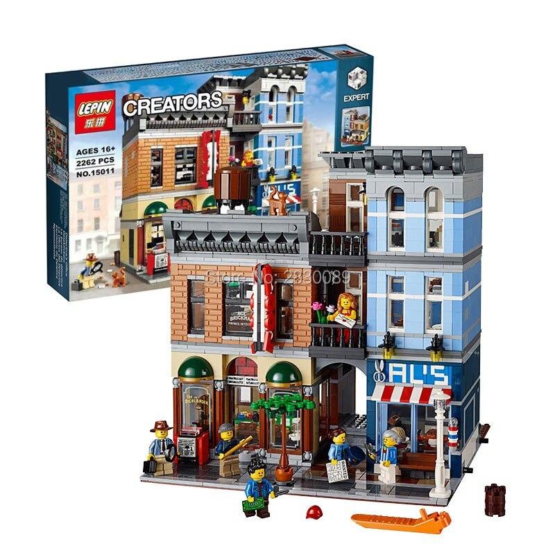 ФОТО Lepin 15011 Creator Series The Detective's Office Set Avengers Set Assemble Building Blocks Toys 10197