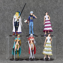 14cm 6pcs/lot Hot Anime One Piece Rebecca Trafalgar Law Cavendish Arena PVC Action Figure Cool Model Toys Doll(China)