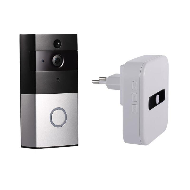 Wireless WiFi Video Doorbell PIR Motion Sensor IP Camera Intercom Kit Door Phone Intercom Home Security,Support IOS Android