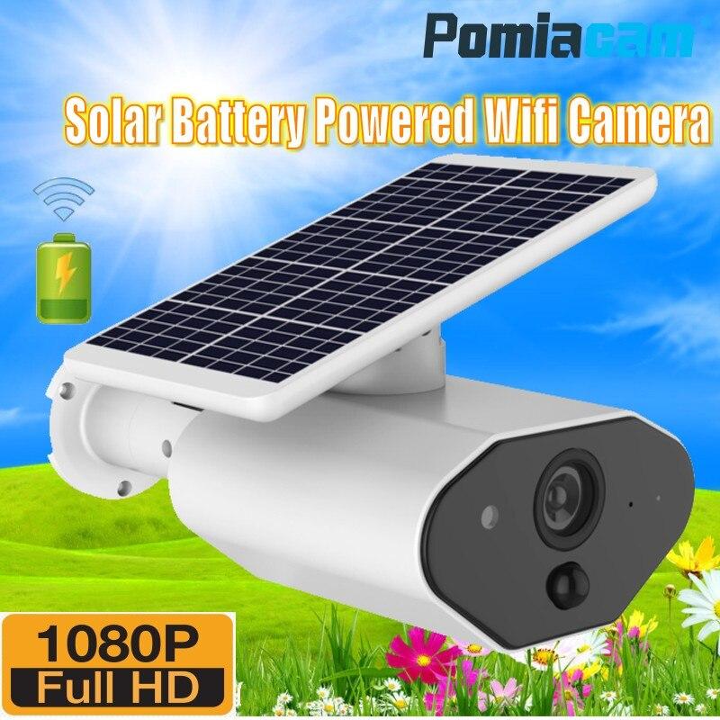 HD 1080 P chargeur de panneau solaire alimenté par batterie Wifi IP caméra L4 sans fil étanche caméra de vidéosurveillance extérieure avec détection à distance PIR