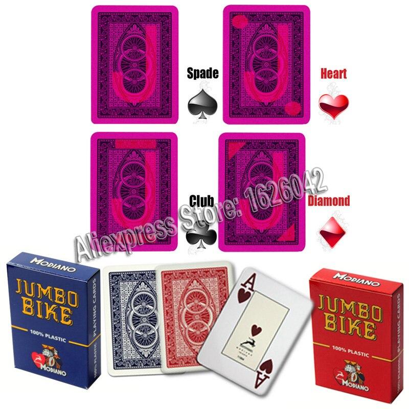 Invisible Poker XF Modiano Jumbo Bike Perspective Marked Cards Poker Cheat UV Contact Lenses Magic Poker