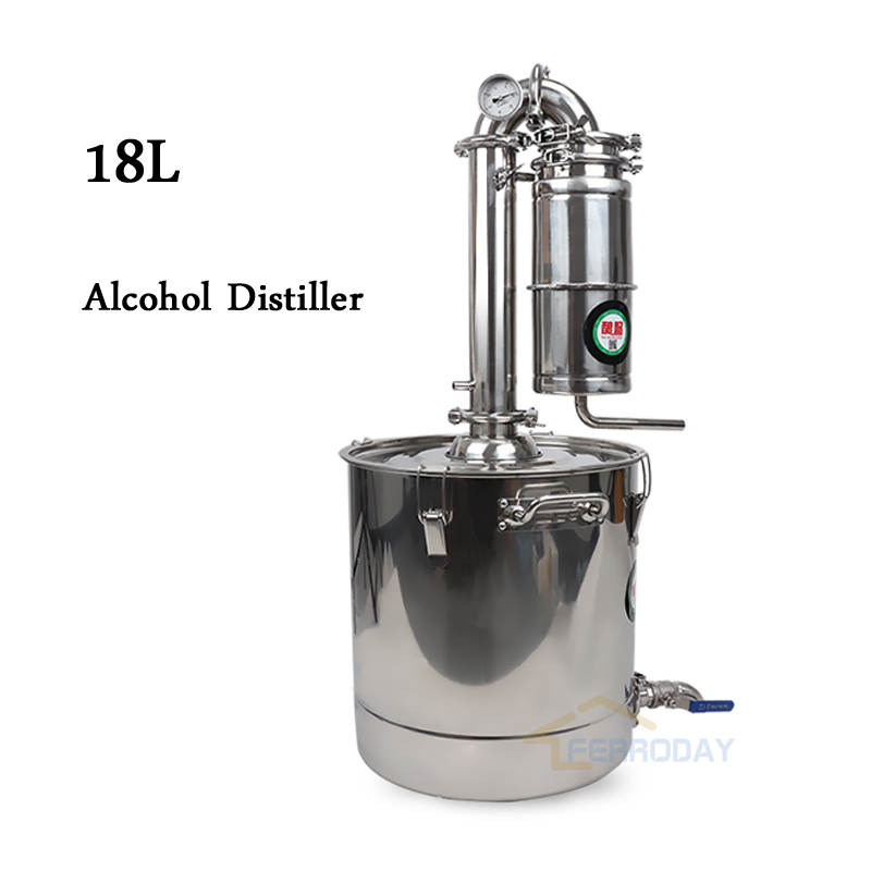 2018 New Stainless Steel Moonshine Home Alcohol Distiller 50L Wine ...