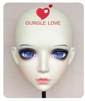 (DM082 Girl Sweet Resin Japanese Anime Kigurumi Mask Cosplay Lolita Crossdressing Lifelike BJD Masks Eye's Color for Choose