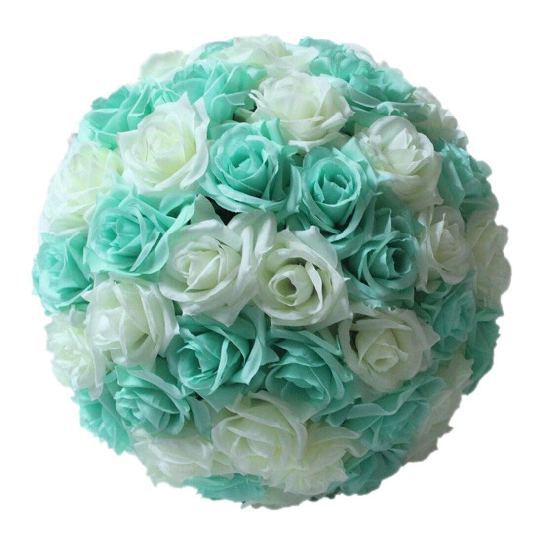 Ksol 820cmwedding Rose Silk Flower Ball Centerpieces Mint