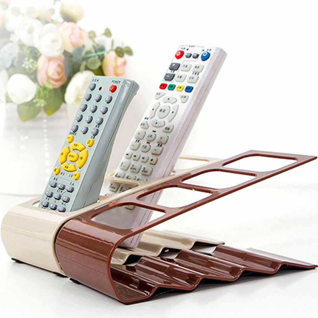 実用的な収納ホルダーラック 4 セクションリモート収納ラックテレビ DVD ビデオデッキステップリモコン電話ホルダースタンド収納オーガナイザー