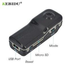 Kebidu 2018 mais novo md80 mini dv dvr esportes câmera para bicicleta/moto gravador de áudio vídeo 720p hd dvr mini câmera + suporte