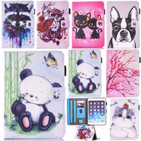 Case For IPad 9 7 2017 2018 Inch New Model A1822 A1823 A1893 Painting Series PU