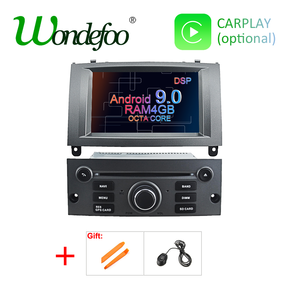 DSP Android 9 0 Car DVD Player for Peugeot 407 2004 2010 4GB RAM 32GB ROM