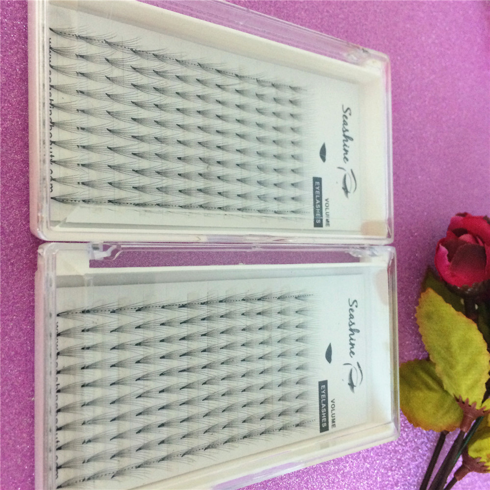 1 Tray 7D High quality Eyelashes Extension Wholesale Price Silk Customized Hand Made Eyelashes Natural Long Free Shipping