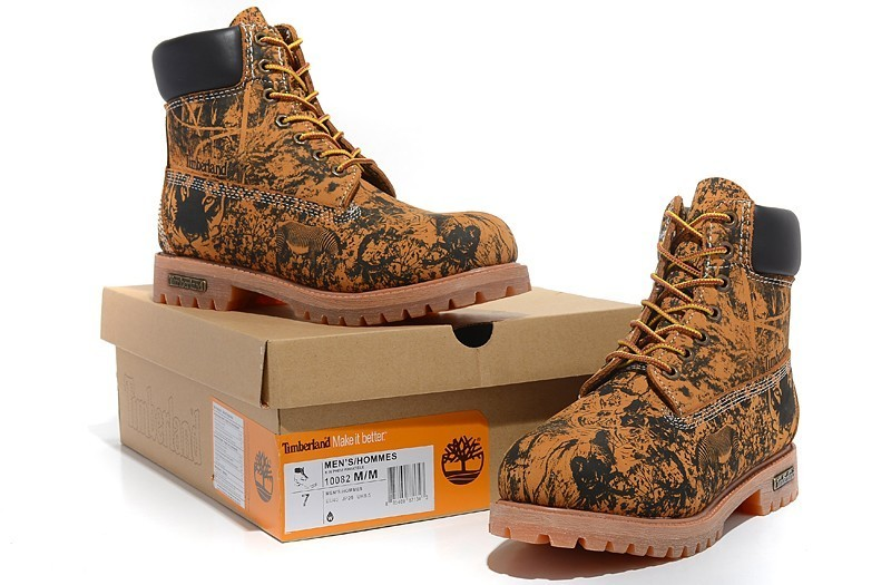 TIMBERLAND Animal Prints Camouflage Leopard Men Premium Ankle Martin Boots,Man Genuine Leather Timber Outdoor Casual Shoes 10082 5