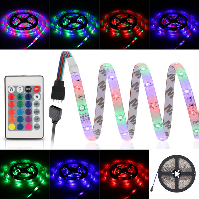 4 Strip Light 5m 270 leds 2835 smd remote control led strip light rgb color 5 5m 270 leds 2835 smd remote control led strip light rgb color 5 modes 4 brightness audiocablefo