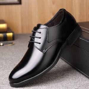 Image 5 - Mazefeng 2019ใหม่แฟชั่นธุรกิจรองเท้าผู้ชายรองเท้าหนังคลาสสิกผู้ชายชุดรองเท้าแฟชั่นLace Upรองเท้าผู้ชายoxfords