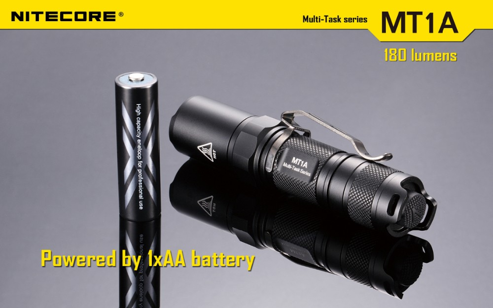 Nitecore MT1A Cree XP-G R5 Multi-Task 4-Mode LED AA  Flashlight 180 Lumens