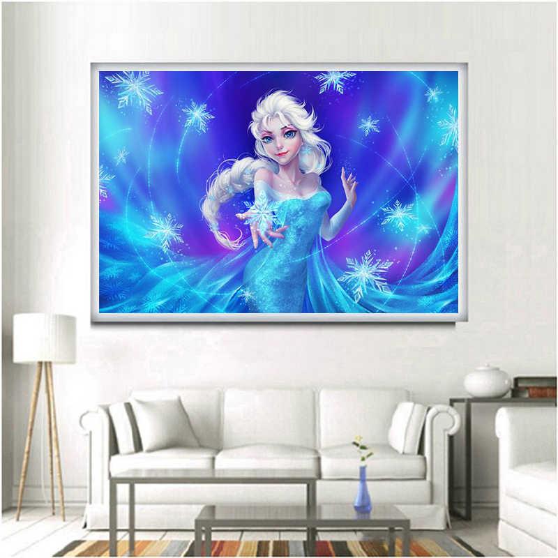 5d completo diy pintura diamante ponto cruz dos desenhos animados elsa e anna & jack imagem presentes diamante bordado mosaico padrão decoração da sua casa