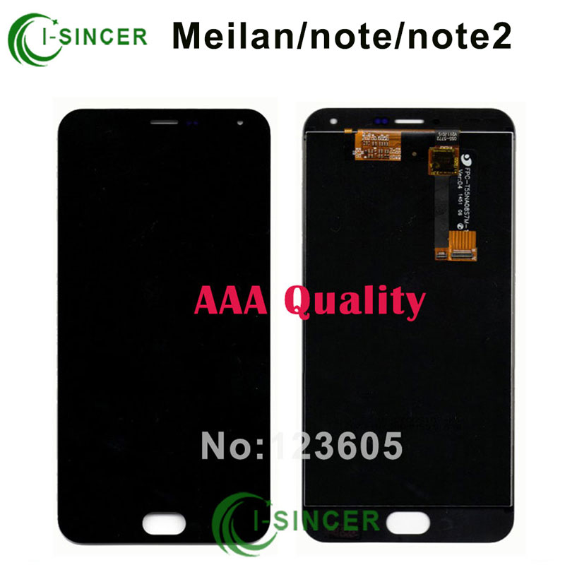 1/PCS Black LCD screen display+ Touch screen Digitizer Assembly For Meizu M2 /Meilan Note/ Note 2 Free shipping