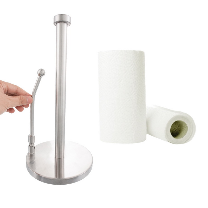 Us 6 44 31 Off Lasperal Vertical Large Roll Paper Towel Holder Kitchen Stainless Steel Works With Various Sizes Of Rolls In