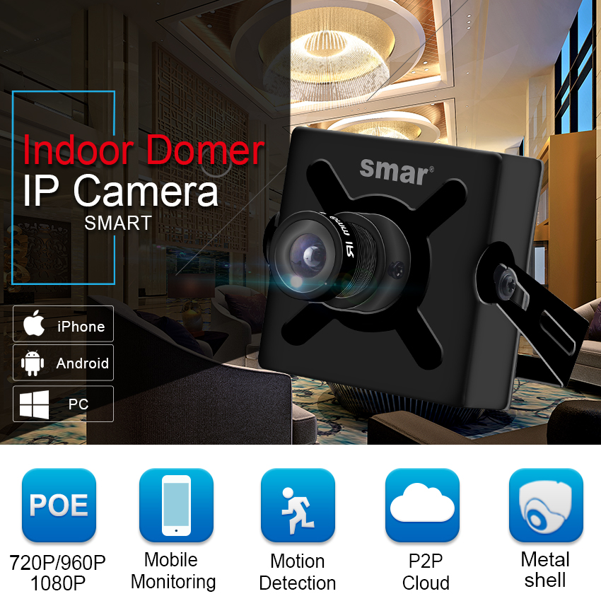 Full HD 720P 960P 1080P 25fps Mini IP Camera With PoE Security HD CCTV Network Camera 3.6mm Support Phone Android View P2P-in Surveillance Cameras from Security & Protection    2