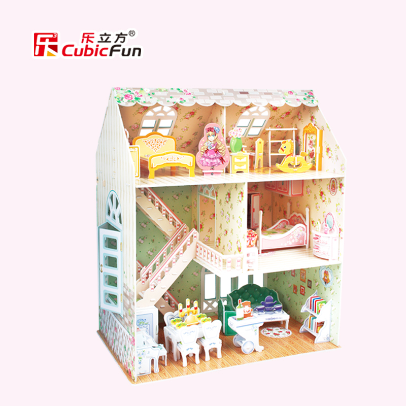 Candice Guo! Newest Arrival 3d Puzzle Toy Cubicfun Paper Model P645h Dreamy Dollhouse Princess Girl Loves Most 1pc Price Remains Stable