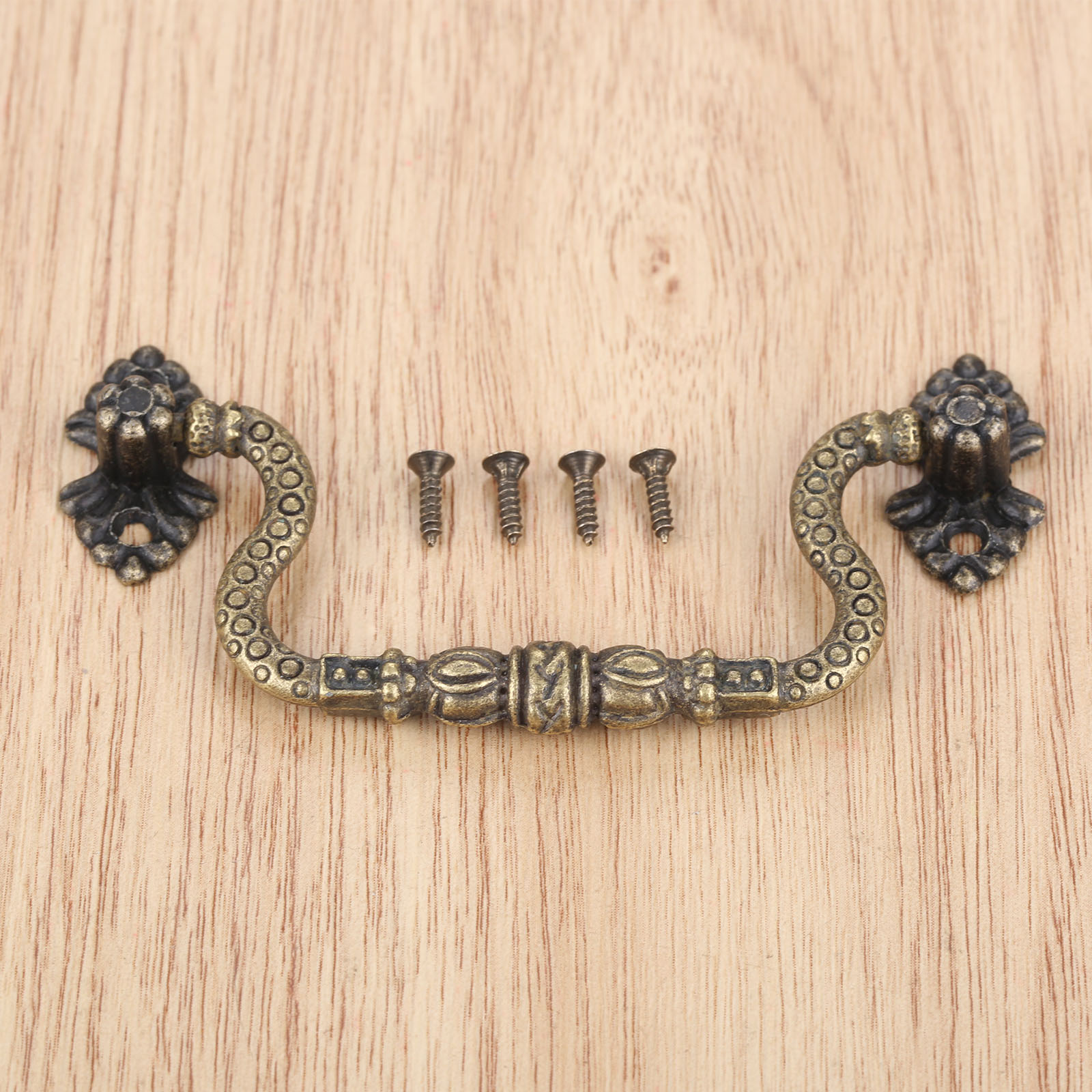 Image of: Dreld 1pc Antique Bronze Furniture Handles Jewelry Box Cabinet Pulls Suitcase Holder Kitchen Drawer Door Handle Knobs 83 42mm Leather Bag