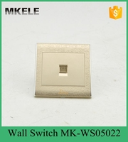 MK WS05022 Free Shipping PC Household Universal Tel Wall Socket Wall Socket Panel Wall Switch And