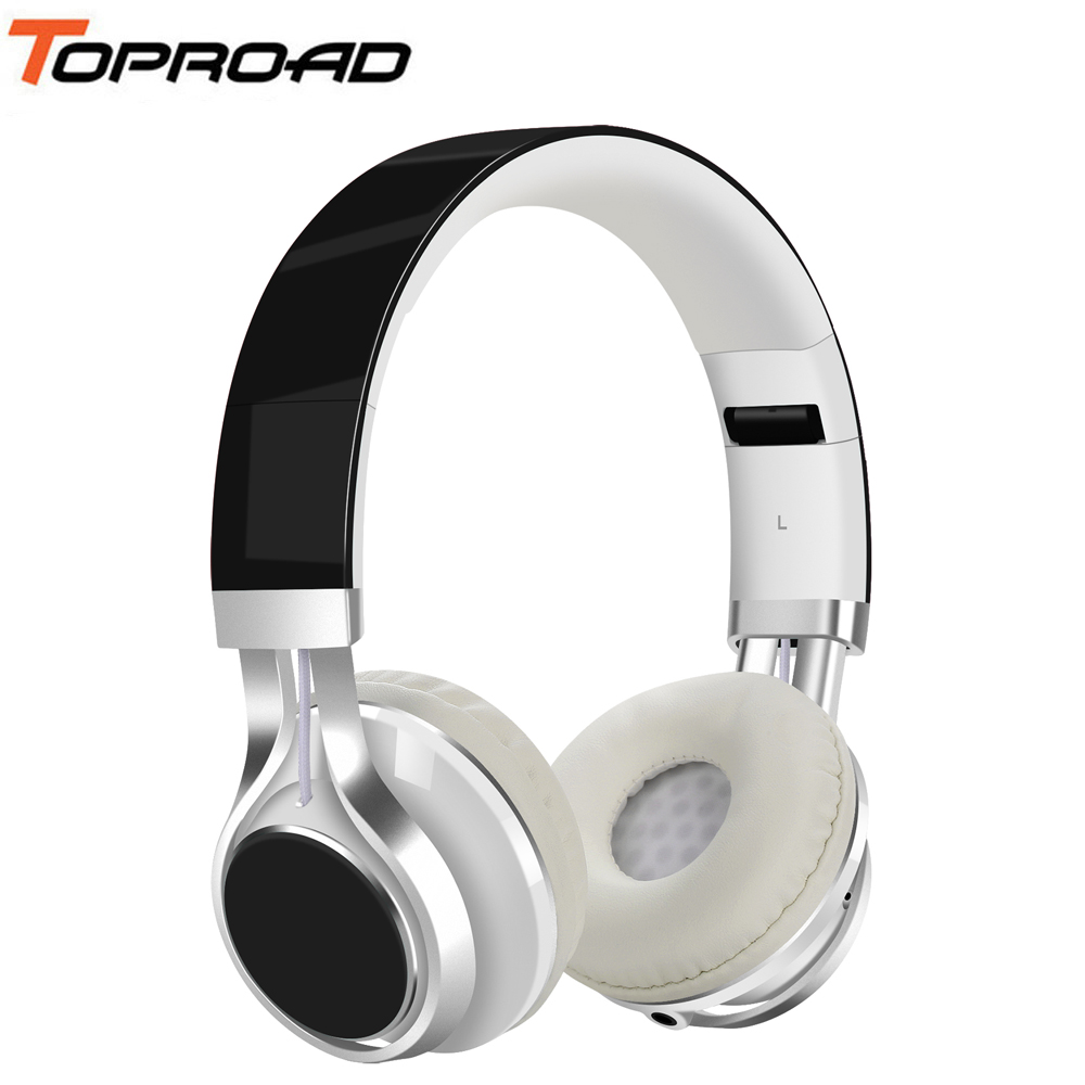 TOPROAD Wired Headphone 3 5mm Foldable Stereo Headset audifonos Earphone Headband with Mic for IOS Andorid Smart Phone Computer